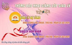 [Đà Nẵng] Thông Báo Khai Giảng Lớp Giáo Lý Hôn Nhân, Dự Tòng 2021 Giáo Xứ Hoà Khánh (Tháng 3)