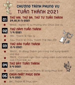 Chương Trình Phục Vụ Tuần Thánh 2021 Giáo Họ Đình Quán